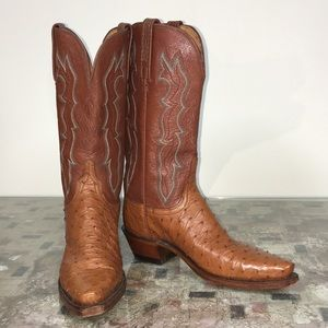 Lucchese 1883 Full Quill Ostrich Cowboy Boots